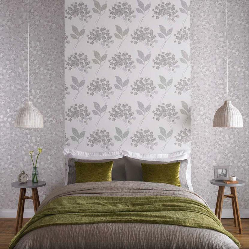 rôzne tapety na steny v spálni
