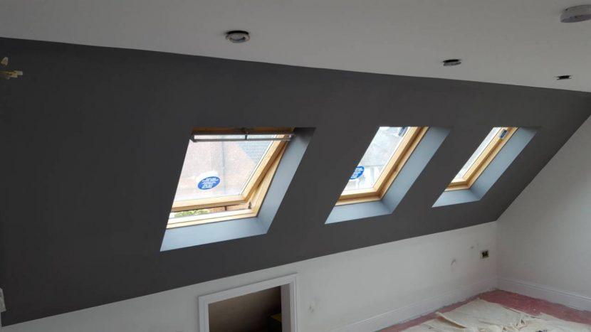 maľovanie podkrovnej izby
